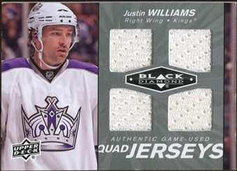 2010/11 Upper Deck Black Diamond Jerseys Quad #QJJW Justin Williams