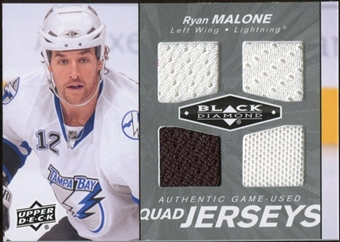 2010/11 Upper Deck Black Diamond Jerseys Quad #QJMA Ryan Malone