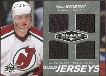 2010/11 Upper Deck Black Diamond Jerseys Quad #QJPS Peter Stastny