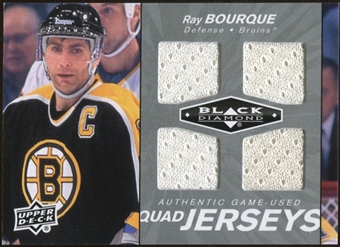 2010/11 Upper Deck Black Diamond Jerseys Quad #QJRB Ray Bourque