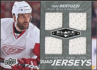 2010/11 Upper Deck Black Diamond Jerseys Quad #QJTB Todd Bertuzzi