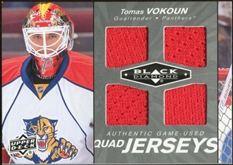 2010/11 Upper Deck Black Diamond Jerseys Quad #QJVO Tomas Vokoun