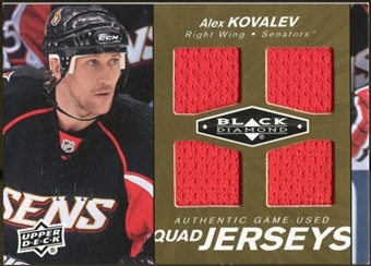 2010/11 Upper Deck Black Diamond Jerseys Quad Gold #QJAK Alex Kovalev 22/25