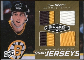 2010/11 Upper Deck Black Diamond Jerseys Quad Gold #QJCN Cam Neely 19/25