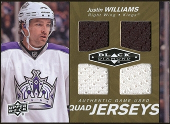 2010/11 Upper Deck Black Diamond Jerseys Quad Gold #QJJW Justin Williams 1/25
