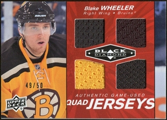 2010/11 Upper Deck Black Diamond Jerseys Quad Ruby #QJBW Blake Wheeler 49/50