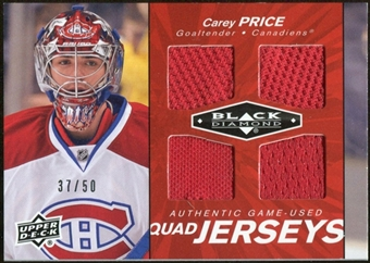 2010/11 Upper Deck Black Diamond Jerseys Quad Ruby #QJCP Carey Price 37/50