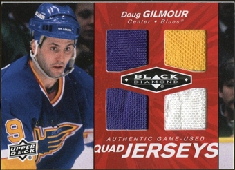 2010/11 Upper Deck Black Diamond Jerseys Quad Ruby #QJDG Doug Gilmour 49/50