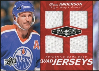 2010/11 Upper Deck Black Diamond Jerseys Quad Ruby #QJGA Glenn Anderson /50