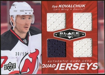 2010/11 Upper Deck Black Diamond Jerseys Quad Ruby #QJIK Ilya Kovalchuk 30/50