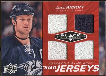 2010/11 Upper Deck Black Diamond Jerseys Quad Ruby #QJJA Jason Arnott /50