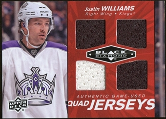 2010/11 Upper Deck Black Diamond Jerseys Quad Ruby #QJJW Justin Williams /50