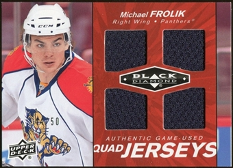 2010/11 Upper Deck Black Diamond Jerseys Quad Ruby #QJMF Michael Frolik /50