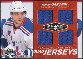2010/11 Upper Deck Black Diamond Jerseys Quad Ruby #QJMG Marian Gaborik /50