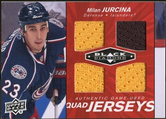 2010/11 Upper Deck Black Diamond Jerseys Quad Ruby #QJMJ Milan Jurcina 37/50