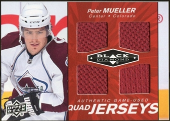 2010/11 Upper Deck Black Diamond Jerseys Quad Ruby #QJPM Peter Mueller 1/50