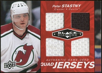 2010/11 Upper Deck Black Diamond Jerseys Quad Ruby #QJPS Peter Stastny 37/50