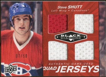 2010/11 Upper Deck Black Diamond Jerseys Quad Ruby #QJSV Steve Shutt 37/50