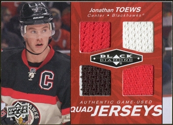 2010/11 Upper Deck Black Diamond Jerseys Quad Ruby #QJTO Jonathan Toews 4/50