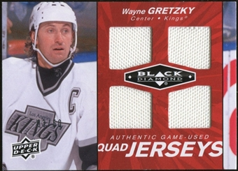 2010/11 Upper Deck Black Diamond Jerseys Quad Ruby #QJWG Wayne Gretzky 3/50