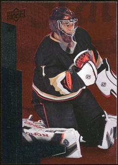 2010/11 Upper Deck Black Diamond Ruby #37 Jonas Hiller /100