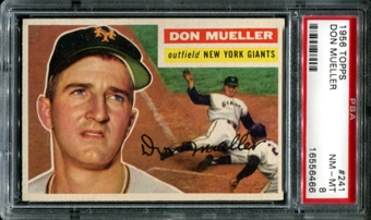 1956 Topps Baseball #241 Don Mueller PSA 8 (NM-MT) *6466