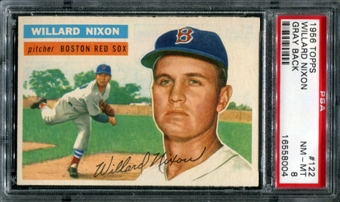 1956 Topps Baseball #122 Willard Nixon PSA 8 (NM-MT) *8004