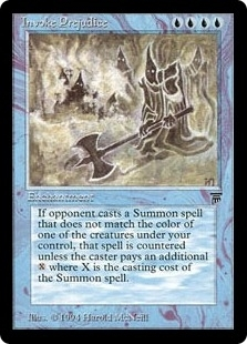 Magic the Gathering Legends Single Invoke Prejudice - NEAR MINT (NM)
