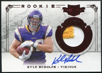 2011 Panini Plates and Patches #214 Kyle Rudolph RC Jersey Patch Autograph 87/499