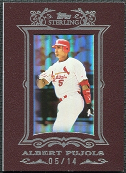 2007 Topps Sterling Framed Burgundy #172 Albert Pujols 5/14