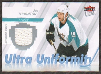 2007/08 Upper Deck Fleer Ultra Uniformity #UJT Joe Thornton