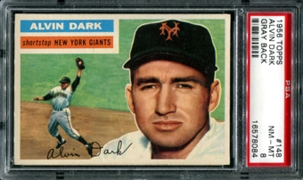 1956 Topps Baseball #148 Alvin Dark PSA 8 (NM-MT) *8084