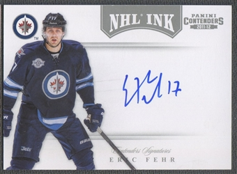 2011/12 Panini Contenders #67 Eric Fehr NHL Ink Auto