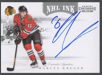 2011/12 Panini Contenders #11 Marcus Kruger NHL Ink Auto