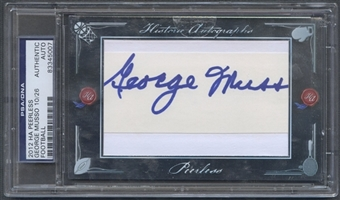 2012 Historic Autographs Peerless #109 George Musso Auto #10/26