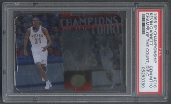 1995/96 SP Championship #C16 Kevin Garnett Rookie Champions of the Court Die Cuts PSA 10