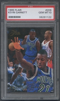 1995/96 Flair #206 Kevin Garnett Rookie PSA 10