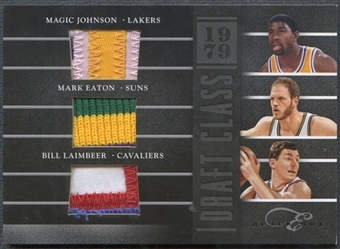 2010/11 Elite Black Box #1 Magic Johnson, Mark Eaton, & Bill Laimbeer Draft Classes Patch #119/149