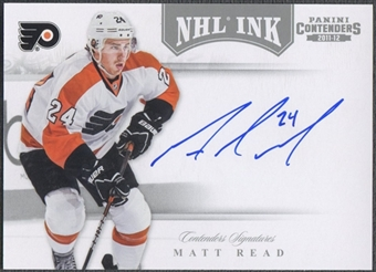 2011/12 Panini Contenders #49 Matt Read NHL Ink Auto