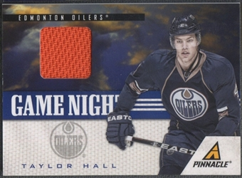 2011/12 Pinnacle #24 Taylor Hall Game Night Materials Jersey