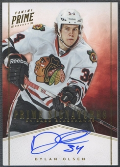 2011/12 Panini Prime #18 Dylan Olsen Signatures Gold Auto #24/50