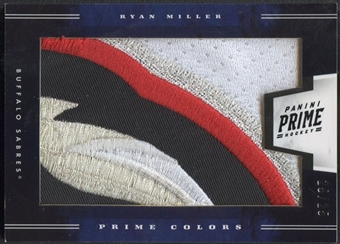2011/12 Panini Prime #11 Ryan Miller Prime Colors Horizontal Patch #25/25