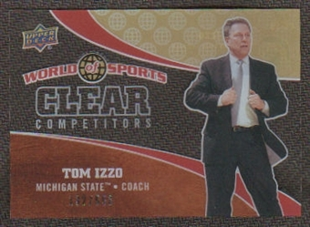 2010 Upper Deck World of Sports Clear Competitors #CC10 Tom Izzo /550