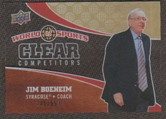 2010 Upper Deck World of Sports Clear Competitors #CC12 Jim Boeheim /550