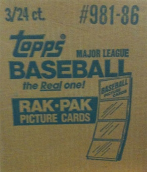 1986 Topps Baseball Rack 3-Box Case