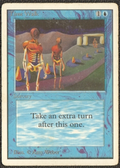 Magic the Gathering Unlimited Single Time Walk MODERATE PLAY (VG/EX)