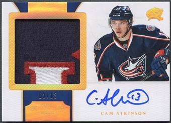 2011/12 Dominion #139 Cam Atkinson Rookie Horizontal Patch Auto #03/13