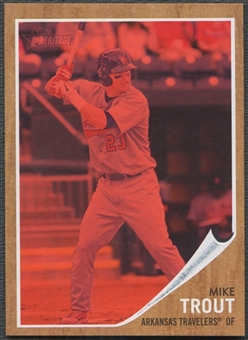 2011 Topps Heritage Minors #44 Mike Trout Red Tint #394/620