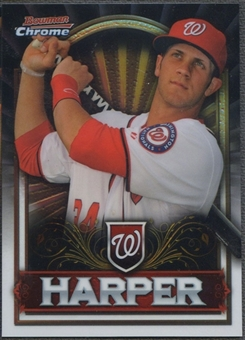 2011 Bowman Chrome #BCE1S Bryce Harper Retail Exclusive Silver