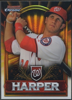 2011 Bowman Chrome #BCE1G Bryce Harper Retail Exclusive Gold